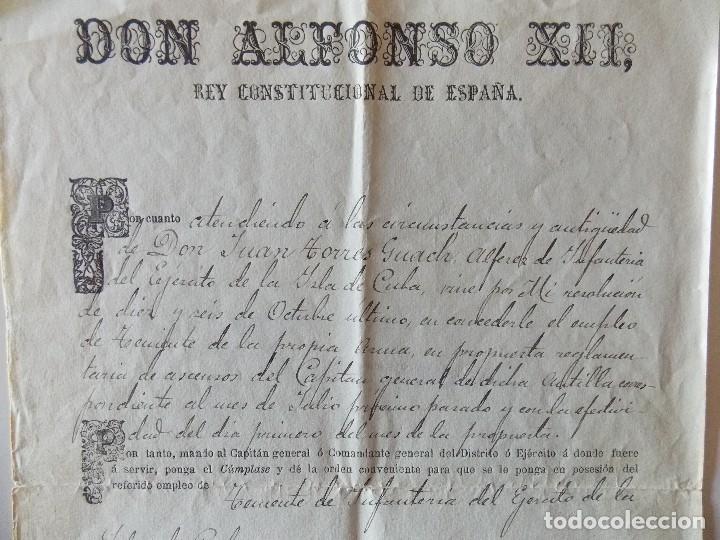Manuscritos antiguos: DOCUMENTO ALFONSO XIII - Foto 2 - 175044639