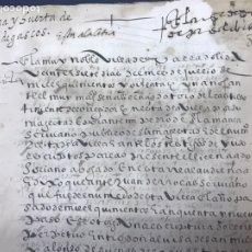 Manuscritos antiguos: VALLADOLID 1581. CONTRATO DECENSO PERPETUO DE UNA CASA CON HUERTO.. Lote 175218948