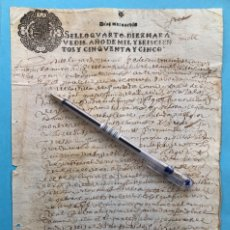Manuscritos antiguos: TIMBROLOGIA- MANUSCRITO- SELLO 10 MRVS. - AÑO 1.655. Lote 175680942