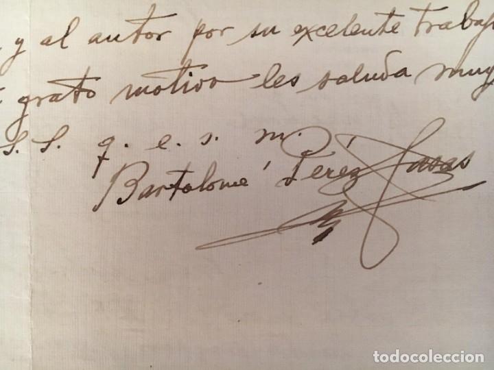 Manuscritos antiguos: BARTOLOMÉ PÉREZ CASAS - CARTA MANUSCRITA, LOCALIZADA, FECHADA Y FIRMADA - Foto 6 - 175718520