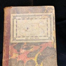 Manuscritos antiguos: ANTIGUA LIBRETA MANUSCRITA, GRAMATICA LATIN Y FELICITACIONES FINALES 1800-PPIOS 1900, VIC BARCELONA . Lote 175781860