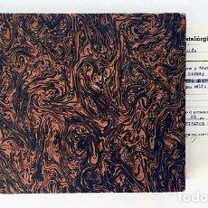 Manuscritos antiguos: DOCIMASIA (DESCUBRIR METALES). CUADERNO DE APUNTES DE LA LA ESCUELA DE CAPATACES DE MINAS. CARTAGENA. Lote 175844643