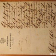 Manuscritos antiguos: ACTA DE VALORACIÓN DE ESCLAVO * MATANZAS (CUBA) 1868. Lote 176203714