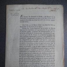 Manuscritos antiguos: DOCUMENTO AÑO 1821 TRIENIO LIBERAL OBLIGACIÓN DE ADMITIR LA SECULARIZACIÓN MONJES POR CONCIENCIA. Lote 176213380