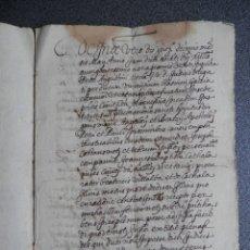 Manuscritos antiguos: MANUSCRITO AÑO 1596 VALENCIA CAPBREU DE JOAN BATISTE CATHALA. Lote 176219078