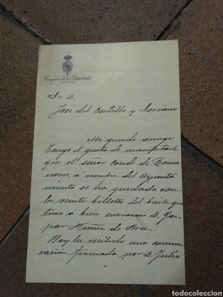 Manuscritos antiguos: Documento con firma del periodista médico, político José Francos Ridriguez - Foto 2 - 176321857