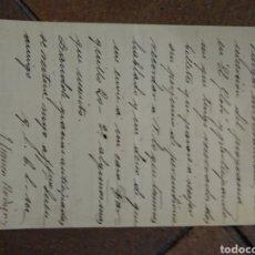 Manuscritos antiguos: DOCUMENTO CON FIRMA DEL PERIODISTA MÉDICO, POLÍTICO JOSÉ FRANCOS RIDRIGUEZ. Lote 176321857