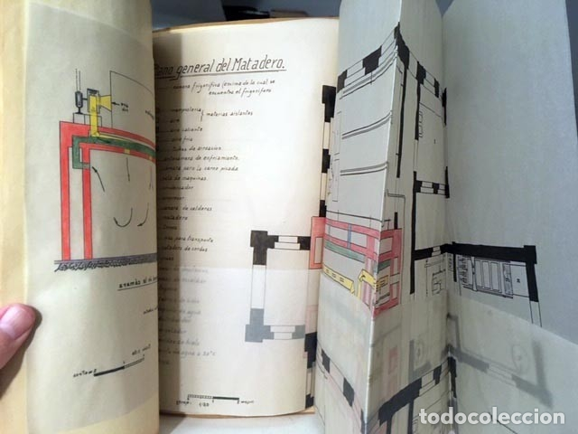 PROYECTO DE INSTALACIÓN FRIGORÍFICA DE UN MATADERO… EN UNA LOCALIDAD DE BADAJOZ… (CON ANOTACIONES Y (Coleccionismo - Documentos - Manuscritos)