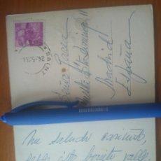 Manuscritos antiguos: POSTAL ORIGINAL ESCRITA ÁNGELES HORTELANO ACTRIZ A GAREA PRODUCTOR MUSICAL. AÑOS 60. Lote 176500707