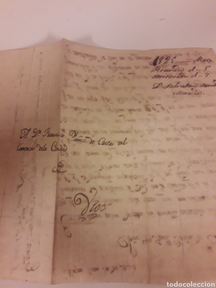 Manuscritos antiguos: Carta manuscrita de 1825 - Foto 3 - 176599687