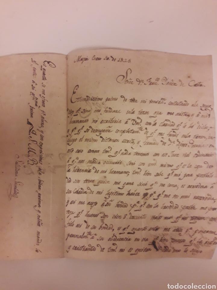 CARTA MANUSCRITA DE 1825 (Coleccionismo - Documentos - Manuscritos)