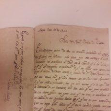 Manuscritos antiguos: CARTA MANUSCRITA DE 1825. Lote 176599687