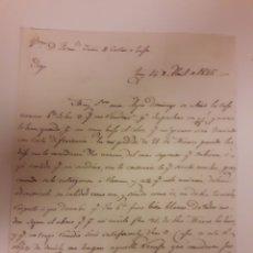 Manuscritos antiguos: CARTA MANUSCRITA TUY 1845. Lote 176599789