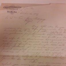 Manuscritos antiguos: CARTA MANUSCRITA VIGO 1868. Lote 176599907