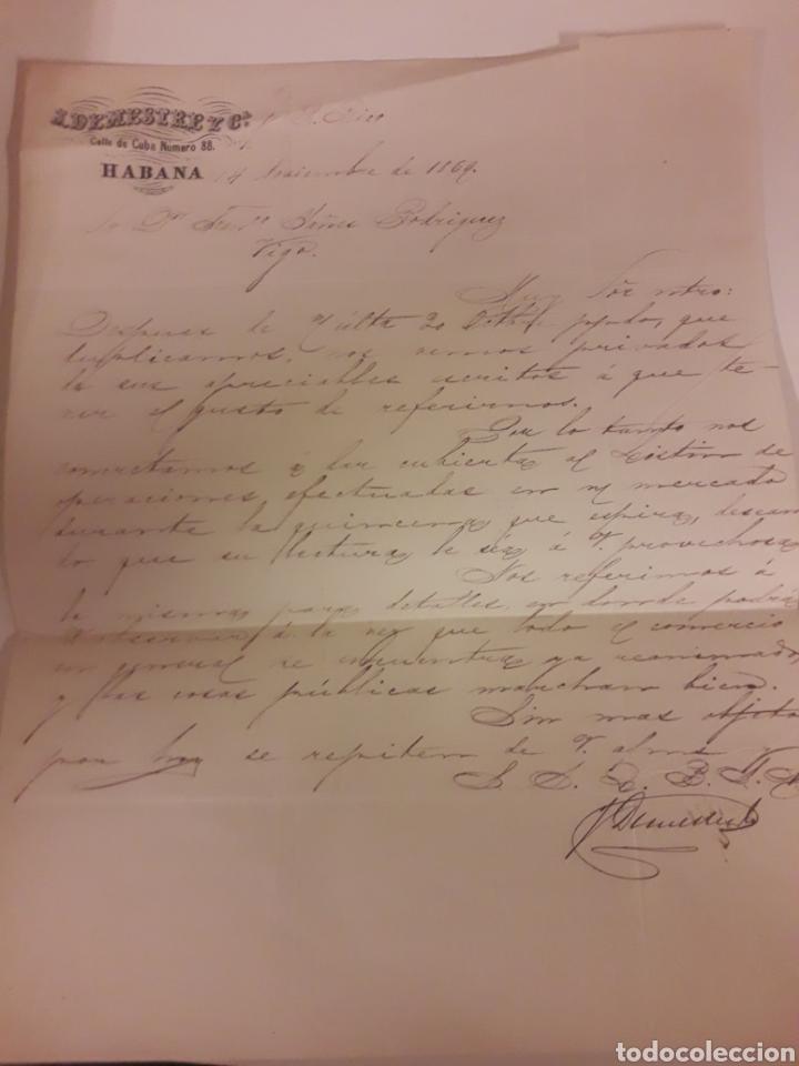 CARTA MANUSCRITA VIGO 1869 (Coleccionismo - Documentos - Manuscritos)