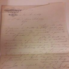 Manuscritos antiguos: CARTA MANUSCRITA VIGO 1869. Lote 176599998