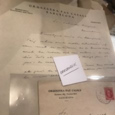 Manuscritos antiguos: CARTA MANUSCRITA 1935 FIRMADA POR PAU CASALS. Lote 176678690
