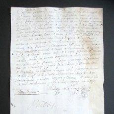 Manuscritos antiguos: AÑO 1790. VALVERDE, LEÓN. CURIOSO RECIBO LIMOSNA 100 REALES PARA ARREGLO DE CASA. MARQUÉS VALVERDE. Lote 176727987