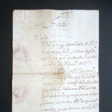 Manuscritos antiguos: AÑO 1771. PONFERRADA, LEÓN. CARTA AGRADECIMIENTO AL MARQUÉS DE VALVERDE. . Lote 176728308