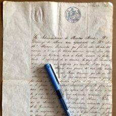 Manuscritos antiguos: HABANA- CUBA- MANUSCRITO RENTAS REALES- JOSE Mª NAVARRO 1862. Lote 176912498