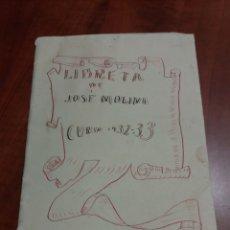 Manuscritos antiguos: LIBRETA DE ESCUELA , REPÚBLICA ESPAÑOLA 1932.. Lote 176937009
