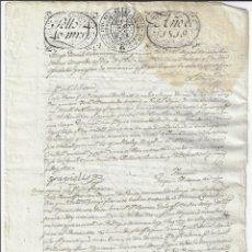 Manuscritos antiguos: SELLO 4 1819. FERNANDO VII. TIMBROLOGÍA PAPEL SELLADO / FISCAL . Lote 177010543