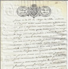 Manuscritos antiguos: SELLO 4 1832. FERNANDO VII. TIMBROLOGÍA PAPEL SELLADO / FISCAL . Lote 177010815