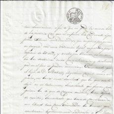 Manuscritos antiguos: SELLO 4 1851. ISABEL II. TIMBROLOGÍA PAPEL SELLADO / FISCAL . Lote 177010907