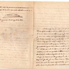 Manuscritos antiguos: NARCÍS OLLER : CARTA MANUSCRITA FIRMADA 1903 INVITACION A HOMENAJE 1925 Y TARJETA PUBLICITARIA. Lote 177021939