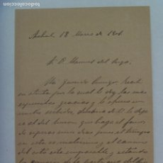 Manuscritos antiguos: CARTA MANUSCRITA , ARAHAL ( SEVILLA ) 1901. Lote 177437242