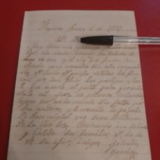 Manuscritos antiguos: 1879 FIGUERAS SOLICITUD DOCUMENTOS. Lote 177558388