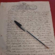 Manuscritos antiguos: 1829 NAVIA DOCUMENTOS SELLO 4 40 MRS FERNANDO VII. Lote 177564349
