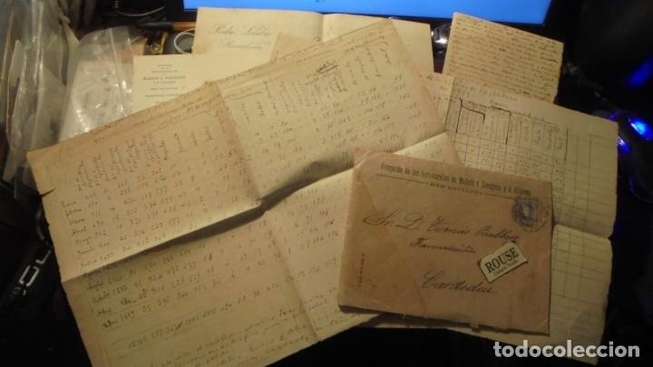 CARDEDEU - FERROCARRILES - TOMAS BALBEY - MANUSCRITOS SOBRE TRAFICO DE LA ESTACION DE CARDEDEU 1899 (Coleccionismo - Documentos - Manuscritos)