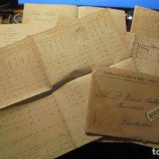 Manuscritos antiguos: CARDEDEU - FERROCARRILES - TOMAS BALBEY - MANUSCRITOS SOBRE TRAFICO DE LA ESTACION DE CARDEDEU 1899 . Lote 177600832