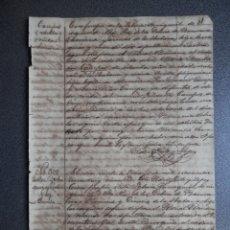 Manuscritos antiguos: ESCLAVITUD CUBA MANUSCRITO AÑO 1895 INSCRIPCIÓN ENTIERRO DE ESCLAVOS CUBA. Lote 177619702