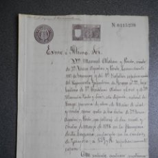 Manuscritos antiguos: FIN GUERRA CUBA VOLVER A ESPAÑA CASADOS MANUSCRITO AÑO 1898 FISCAL 12º. Lote 177620009