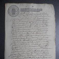 Manuscritos antiguos: MANUSCRITO AÑO 1637 RARÍSIMO FISCAL 2º PERALTA NAVARRA PODER NOTARIAL. Lote 177620274