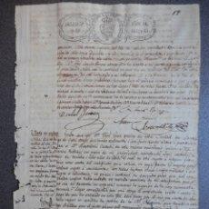 Manuscritos antiguos: VENTA ESCLAVO NEGRO 22 AÑOS CON VICIOS Y LIBRE DE TODO GRAVAMEN CUBA AÑO 1842. Lote 177656052