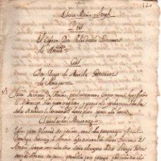 Manuscritos antiguos: PAPELES Y DERECHOS DEL CAPITAN DIEGO DE MOREDA Y EL CAPITAN PEDRO DE OCIO, 60 PAG MANUSCRITAS. Lote 177797718