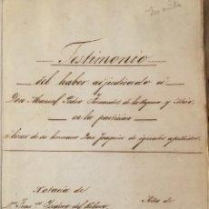 Manuscritos antigos: ESCRITURAS, HERENCIAS, SOPEÑA VALLE DE CABUERNIGA, 1878. Lote 177821207