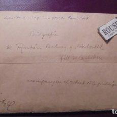 Manuscritos antiguos: CARDEDEU - MANUSCRITO - ESCRITO POR TOMAS BALVENY CARDEDEU 22 MAYO 1929 , BIOGRAFIA DE ANTÓN BALVENY. Lote 177896967