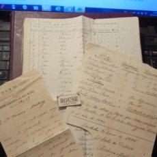 Manuscritos antiguos: CARDEDEU (BARCELONA) TOMAS BALVEY TEMA MILITAR (REEMPLAZOS1894-1895-1896-1897) - (1898 SOMATEN)1899 . Lote 177942597