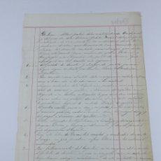 Manoscritti antichi: DOCUMENTO CONTRATO NORMAS A BORDO DE UN BARCO 1863 CADAQUÉS. Lote 178007340