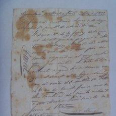 Manuscritos antiguos: RECIBO DE DEPOSITO O SIMILAR , MANUSCRITO. ALCALA DE GUADAIRA ( SEVILLA ). 1855 . SIGLO XIX. Lote 178163416