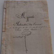 Manuscritos antiguos: ENGUERA (VALENCIA) - DIVISIÓN HIJUELA - AÑO 1904 - SELLOS FISCALES 10ª Y 11ª CLASE - DOS Y UNA PTAS. Lote 178163508