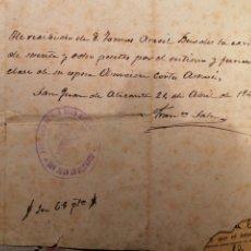 Manuscritos antiguos: SAN JUAN DE ALICANTE 1947 PARROQUIA. Lote 178164931