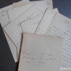 Manuscritos antiguos: 10 CARTAS AÑO 1862 DUQUE DE OSUNA - DESDE UBRIQUE Y SEVILLA AL GOBERNADOR PETICIÓN FAVORES. Lote 178211153