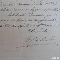 Manuscritos antiguos: CARTA MANUSCRITA Y FIRMA CONDE DE SAN LUIS AÑO 1869 QUEJAS FUE PRESIDENTE GOBIERNO. Lote 178211720