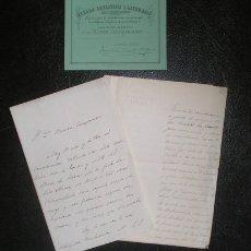 Manuscritos antiguos: MANUSCRITOS A RAMÓN DE CAMPOAMOR DE FAUSTINA SÁEZ DE MELGAR Y GABRIELA DE ANDUAGA DE CORRADI . 1869. Lote 178667811