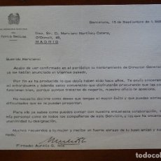 Manuscritos antiguos: FRANQUISMO, FIRMA DIRECTOR PUERTO BARCELONA AURELIO G ISLA. Lote 178678781